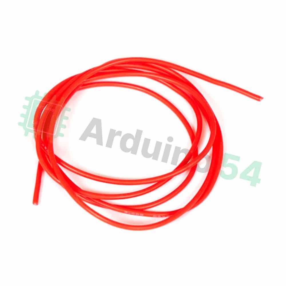 Мягкий силиконовый провод 22AWG, красный, 1 метр