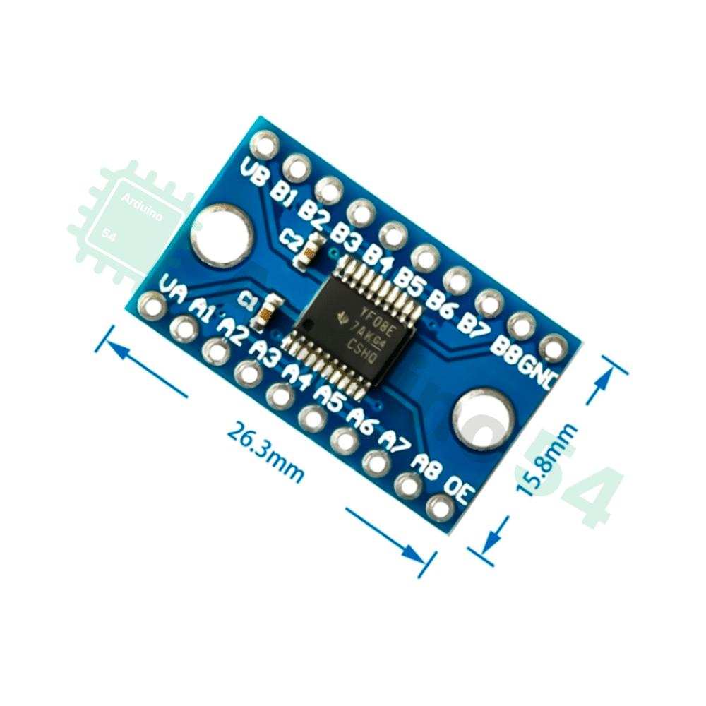 TXS0108E, преобразователь логических уровней (8 каналов)