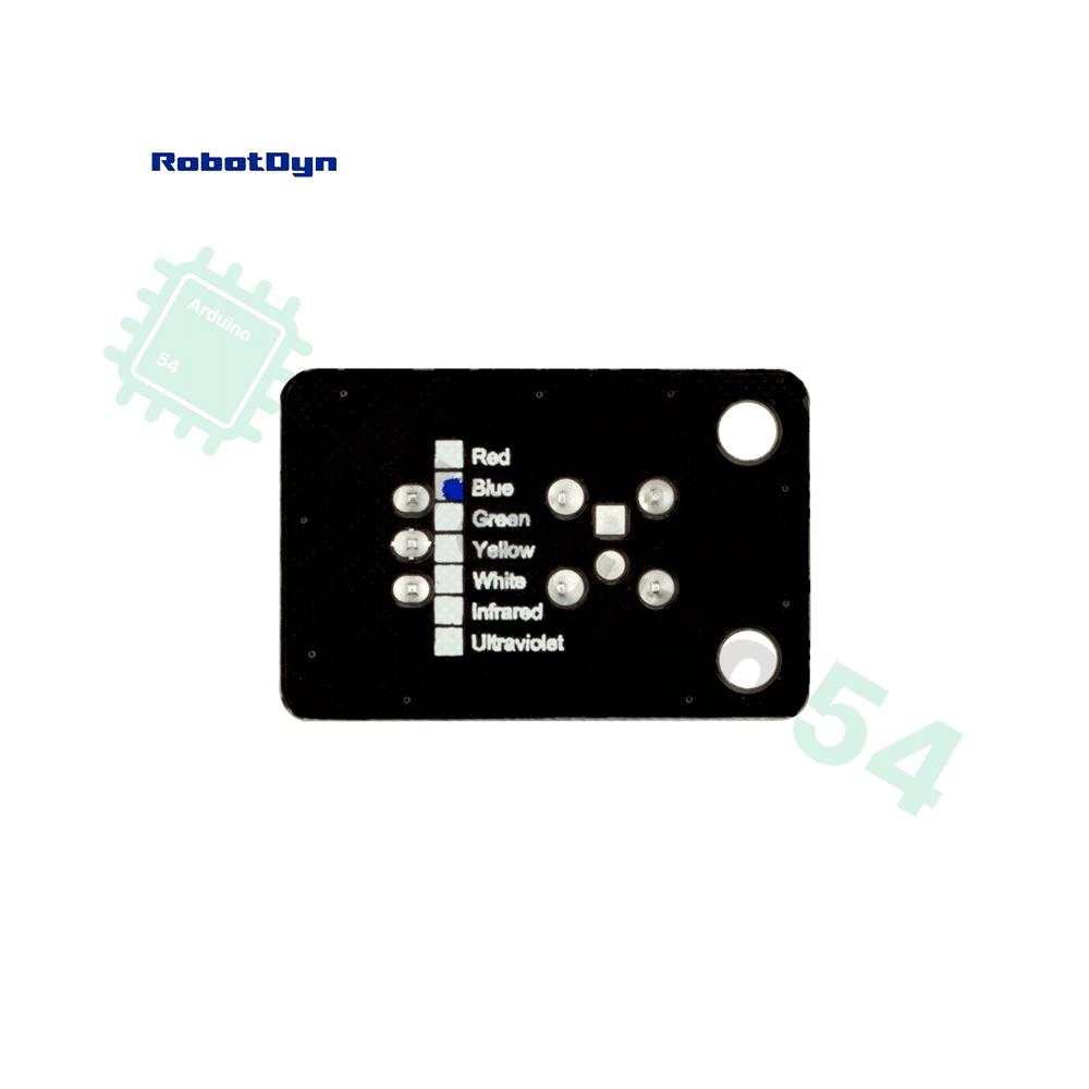Модуль сверхъяркого цветного светодиода (Piranha) (синий)