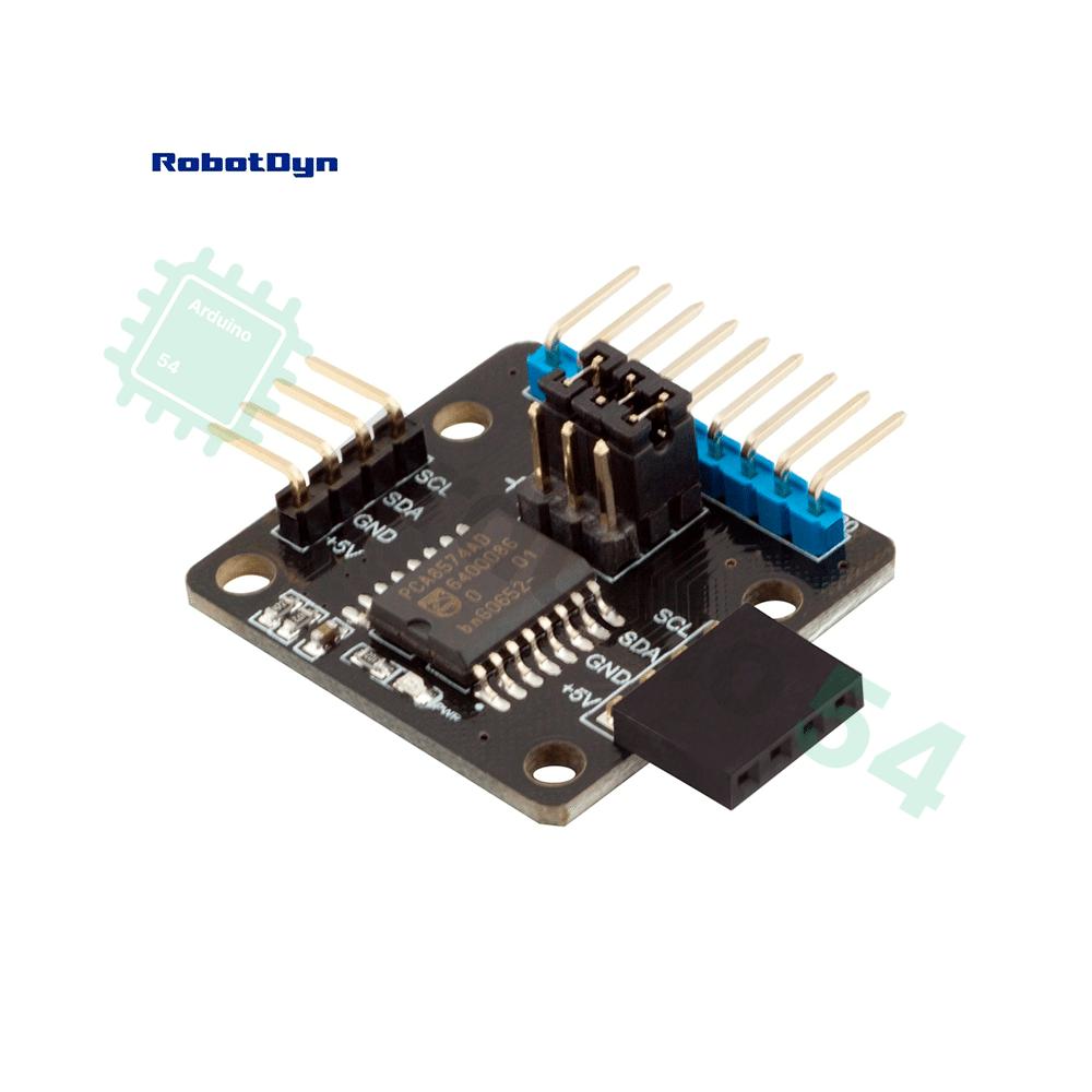 I2C 8-битный модуль расширения ввода / вывода PCA8574AD от RobotDyn