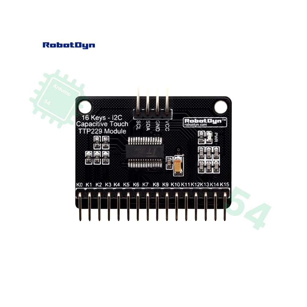 Модуль TTP229 для подключения сенсорных клавиатур 16 ключей I2C DC 2.4-5.5V от RobotDyn
